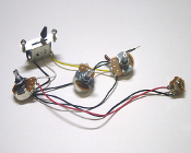 Strat Wiring Harness, 5 Way 500K Blade Switch