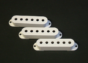 Strat Pickup Cover Set, White - BLOWOUT