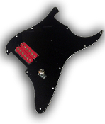 Prewired EVH Strat Pickguard, One Humbucker Phat Screamers