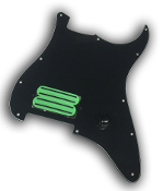 Prewired Strat Pickguard, One Hum Quad Rail