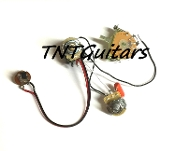 1V1T Prewired Harness, 2 Pickup CTS PUSH-PULL CoilSplit 3WFender