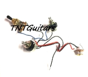 1V1T Prewired Harness, 2 Pickup Sealed, 1Vol+1Tone 3Way Switch Toggle