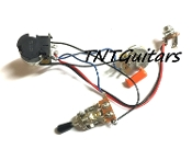 1V1T Prewired Harness, 2 Pickup CTS PUSH-PULL CoilSplit 3W Toggle