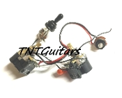 1V1T Prewired Harness, 2 Pickup CTS PUSH-PULL w/ DUAL Coil Split, Toggle Switch