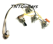 2V1T Prewired Harness, 2 Pickup ~ CTS 2Vol+1Tone, 3W Toggle Switch