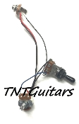 1V Prewired Harness, 2 Pickup Standard, 1Vol 3Way Switch Toggle