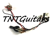 1V Prewired Harness, 2 Pickup Sealed, 1Vol 3Way Switch Toggle