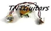 1V Prewired Harness, 2 Pickup CTS, 1Vol 3Way Fender Switch
