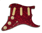 Pro Series Pickguard DFDG, SSS Prewired / Loaded Guard w/ Active AlNiCo Strat Pickups, Custom cut and designed loaded prewired pickguard, included BCU & EXP onboard effects + 7-Way Switching, Choice of Colors