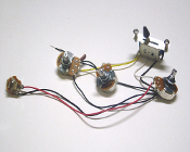 Strat Wiring Harness, LEFTY 5 Way 500K Blade Switch