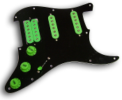 Pro Series Pickguard Blues Kat, Coil Tap, White