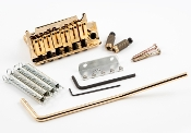 Strat Trem System 2 Point Brass Block & Steel Saddles, GOLD