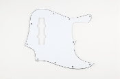 Jazz Bass Pickguard, 3 Ply White-Black-White Blowout