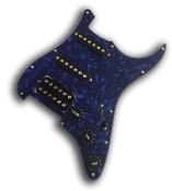 Prewired Strat Pickguard HSS Phat Screamers
