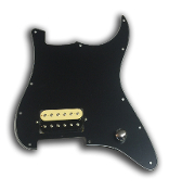 Prewired EVH Strat Pickguard, One Humbucker, Solid Black