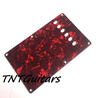 Strat Trem Cover, Vintage Style, Red Pearl