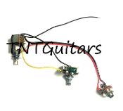 1V1T One Pickup Wiring Harness ~ Standard Push-Pull, COIL SPLIT