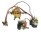 1V1T Prewired Harness, 2 Pickup CTS PUSH-PULL w/ DUAL Coil Split