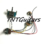 1V1T Prewired Harness, 2 Pickup Standard, 1Vol+1Tone 3Way Switch