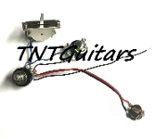 1V1T Prewired Harness, 2 Pickup Sealed, 1Vol+1Tone 3Way Switch