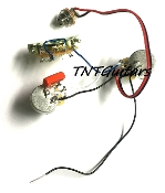 1V1T Prewired Harness, 2 Pickup CTS, 1Vol+1Tone 3Way Switch