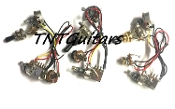 1V1T Prewired Harness, 2 Pickup Standard, 1Vol+1Tone 3Way Switch Toggle