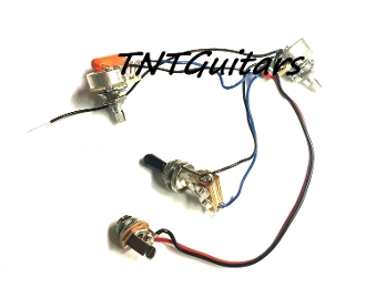 1V1T Prewired Harness, 2 Pickup CTS, 1Vol+1Tone 3Way Toggle Switch