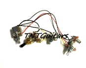 1V2T Prewired Harness, 2 Pickup Standard, 1Vol+2Tone 3Way Switch Toggle