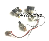 2V1T Prewired Harness, 2 Pickup CTS PUSH-PULL w/ DUAL Coil Split, Toggle Switch