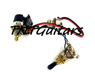 1V Prewired Harness, 2 Pickup CTS PUSH-PULL CoilSplit 3W Toggle