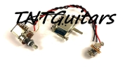 1V Prewired Harness, 2 Pickup Standard, 1Vol 3Way Switch Blade