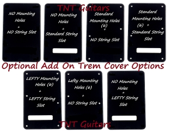 Custom Designed Strat Trem Cover, Build Your Own Backplate