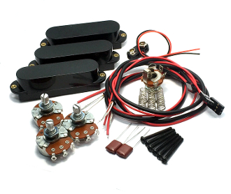 Active Strat Single Coil SSS Pickup Set, Noise Free Ceramic