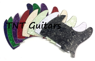 Custom Designed Tele Pickguard, BYO Build Your Own Design, Choice of Colors & Controls