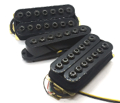 Crusaders HSH Set, 7 string, humbucker-Single-humbucker, adjustable hex caps