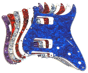 HH Pickguard, Strat Replacement Guard, Choice of Colors
