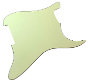 Blank Strat Pickguard, Mint Green