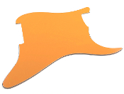 Blank Strat Pickguard, Orange