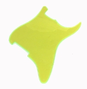 Blank Strat Pickguard, Create Your Own Stratocaster Guard Replacement, Choice of Colors, Controls & Other Options, Fluorescent Transparent Lime Green