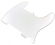 Blank Tele Pickguard, Telecaster Guard w/ No Pickup, Mounting or Other Holes, Build Your Own Ready to Cut & Customize for a Unique Replacement, White (WBW) White Black White