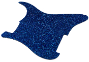 Blank Strat Pickguard, Create Your Own Stratocaster Guard Replacement, Choice of Colors, Controls & Other Options, Fender Replacement, Beveled Edge, Right or Left-Handed, Transparent / Translucent Nova Blue