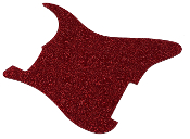 Blank Strat Pickguard, Create Your Own Stratocaster Guard Replacement, Choice of Colors, Controls & Other Options, Fender Replacement, Beveled Edge, Right or Left-Handed, Transparent / Translucent Nova Red