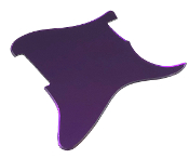 Blank Strat Pickguard, Create Your Own Stratocaster Guard Replacement, Choice of Colors, Controls & Other Options, Fender Replacement, Beveled Edge, Right or Left-Handed, Reflective Purple Mirror