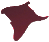 Blank Strat Pickguard, Create Your Own Stratocaster Guard Replacement, Choice of Colors, Controls & Other Options, Fender Replacement, Beveled Edge, Right or Left-Handed, Reflective Red Mirror