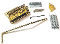 Strat Trem System Vintage Brass Block & Steel Saddles