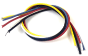 "Dragonfire Cloth Covered Vintage Style Wire, Guitar & Bass Wiring ~90"" Total Length, 7.5ft Wire, Set of 5 Colors 18"" Each, 20 AWG Push Back Wires for Jacks, Switches, Pots & Controls, Heavy Duty, Great for Pickguard Wiring, Electronics & Harnesses"